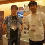 CEDEC2014デモ・OB柿原氏来訪